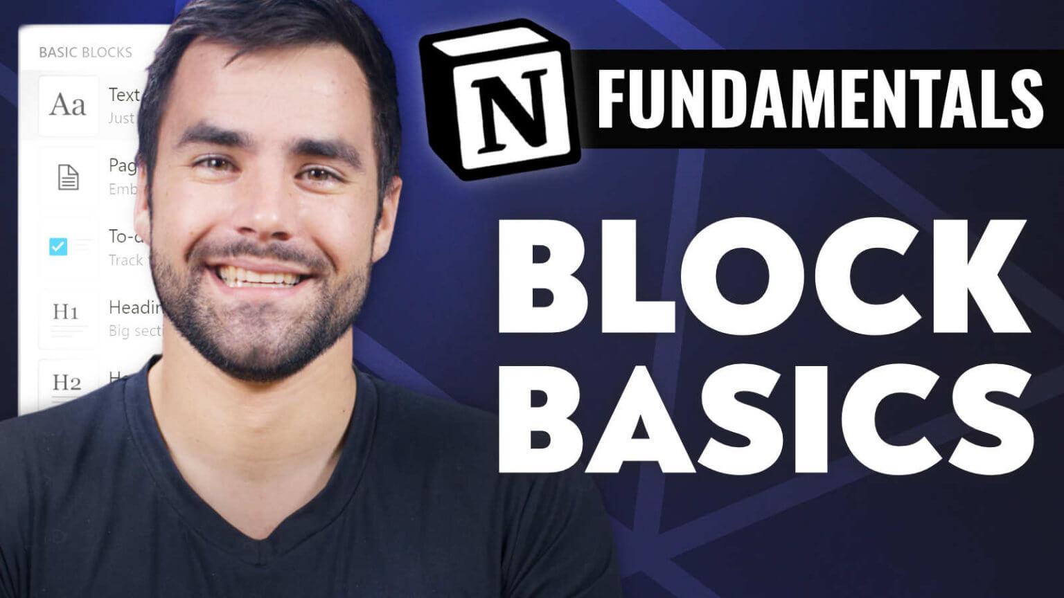 Block Basics - Notion Fundamentals with Thomas Frank