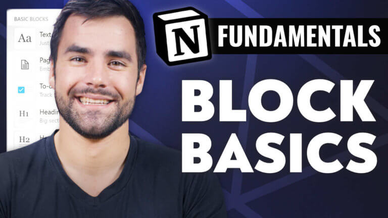 Block Basics - Notion Fundamentals with Thomas Frank