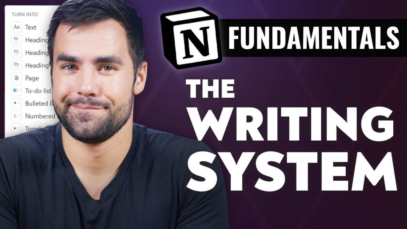 Notion's Markdown Writing System - Notion Fundamentals with Thomas Frank