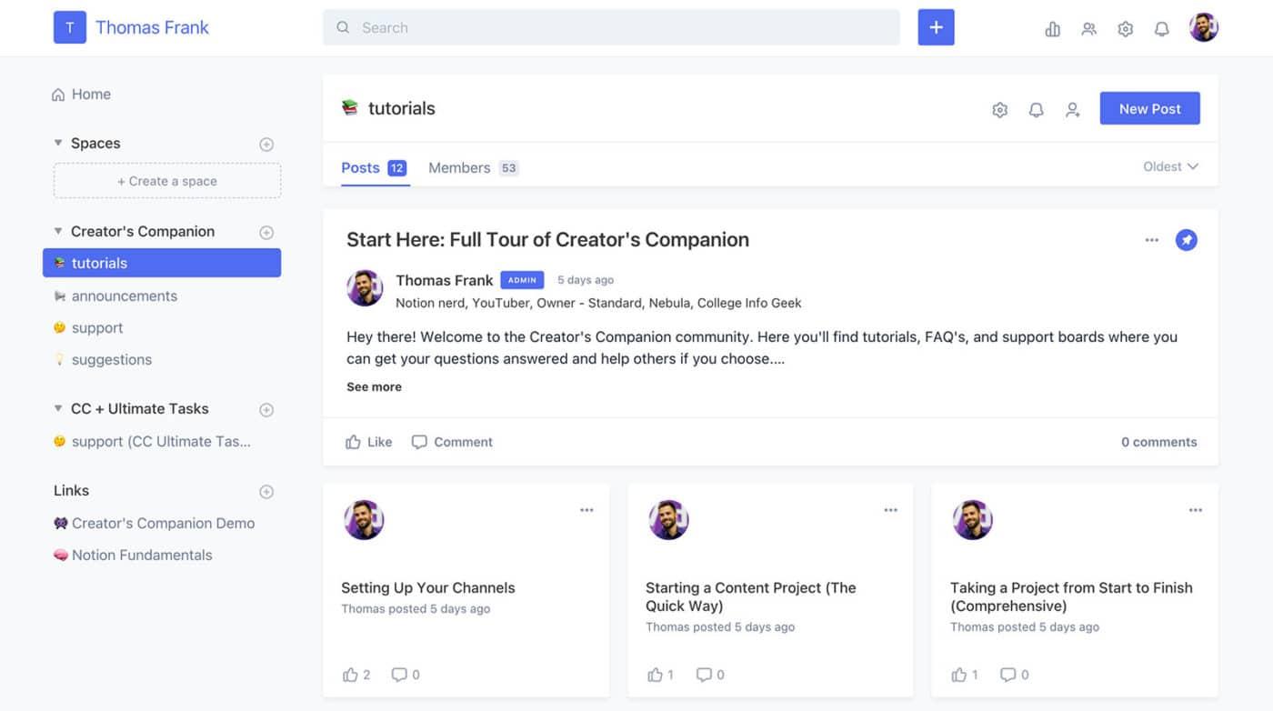 Creators Companion Support Community