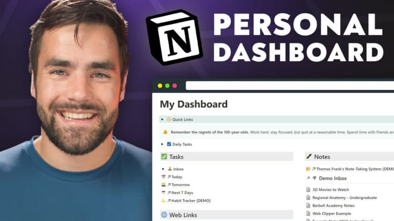 Notion Masterclass - Build a Personal Dashboard from Scratch
